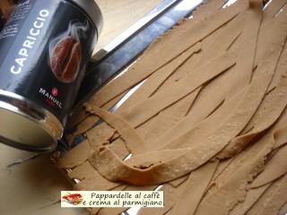 Pappardelle al caffè e crema al parmigiano.7