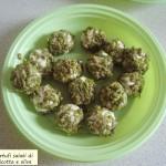 Tartufi salati di ricotta e olive