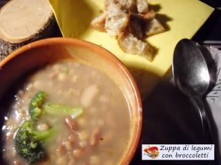 Zuppa di legumi con broccoletti.2