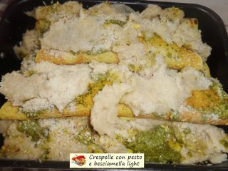 Crespelle con pesto e besciamella light.8