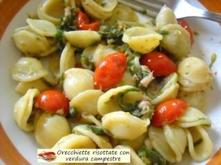 Orecchiette risottate con verdura campestre