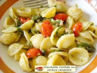 Orecchiette risottate con verdura campestre.3
