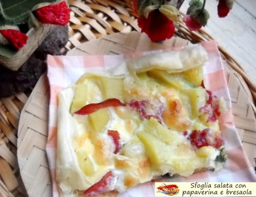 Sfoglia salata con papaverina e bresaola