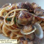 Spaghetti alle vongole con bottarga