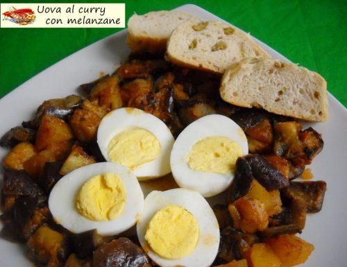 Uova al curry con melanzane