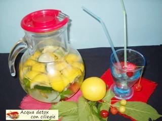 Acqua detox con ciliegie.3