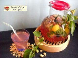 Acqua detox con gelsi