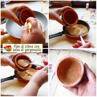 Flan di silene con salsa di gorgonzola.4