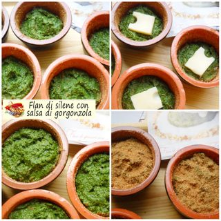 Flan di silene con salsa di gorgonzola.5