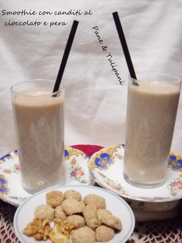 smoothie con canditi al cioccolato e pera