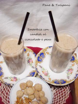 Smoothie con canditi al cioccolato e pera.2