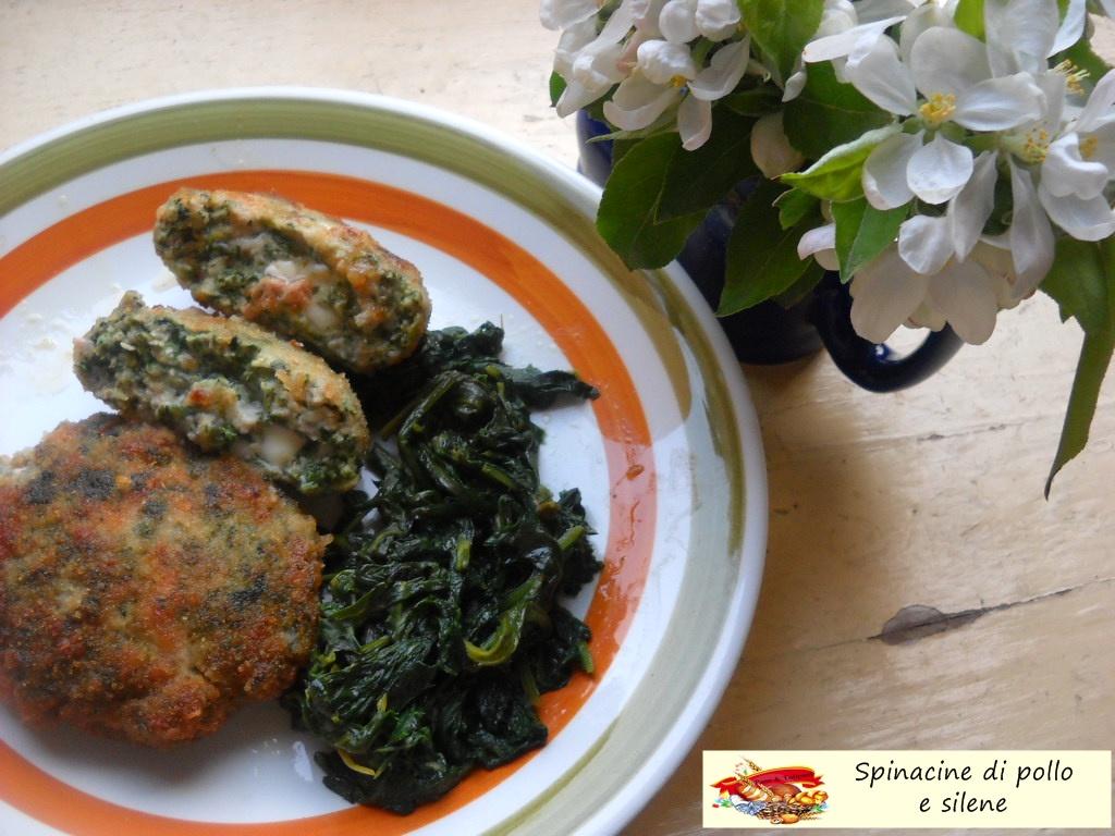 spinacine di pollo e silene