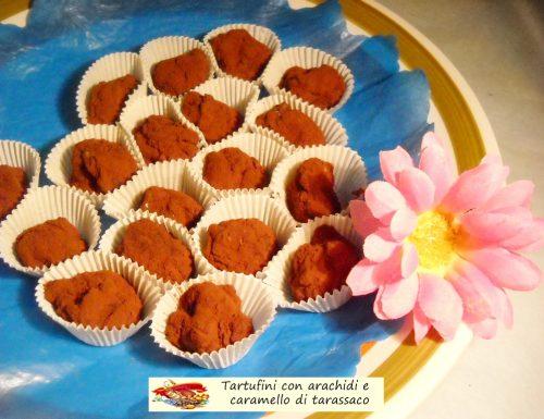 Tartufini con arachidi e caramello al tarassaco