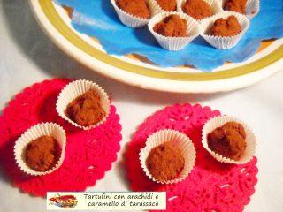 Tartufini con arachidi e caramello di tarassaco.7