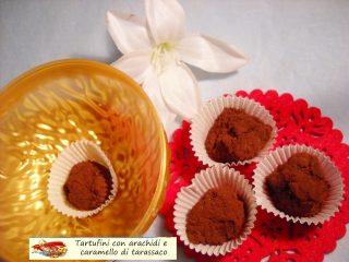 Tartufini con arachidi e caramello di tarassaco.8