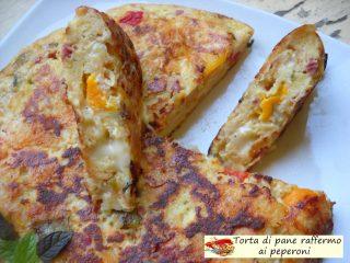 Torta di pane raffermo ai peperoni.11