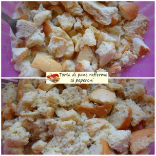 Torta di pane raffermo ai peperoni.4