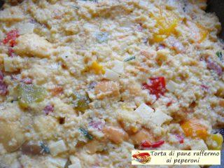 Torta di pane raffermo ai peperoni.8