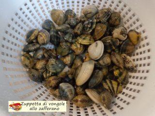 Zuppetta di vongole allo zafferano.2