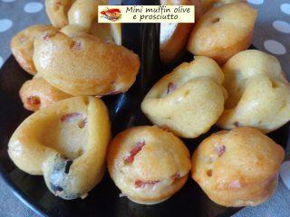 Mini muffin olive e prosciutto