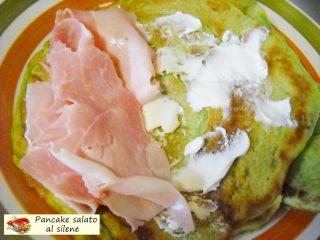 Pancake salato al silene farcito