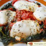 Parmigiana di spinaci. Gustoso piatto.