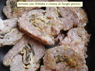 Arrosto con frittata e crema di funghi porcini.4