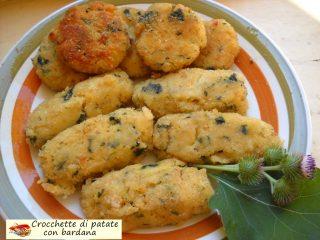 Crocchette di patate con bardana 1