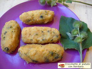 Crocchette di patate con bardana 8