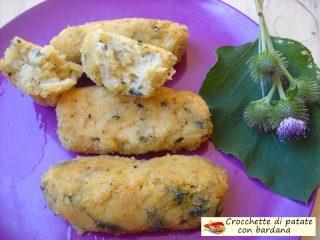 Crocchette di patate con bardana