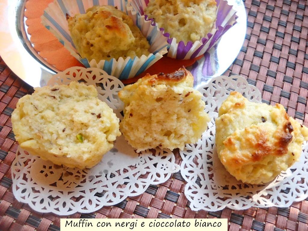 muffin con nergi e cioccolato bianco
