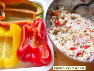 Peperoni ripieni di riso al forno.2