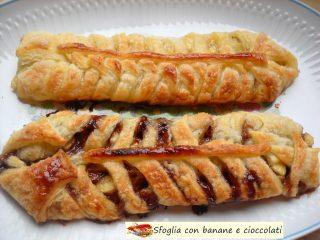 Sfoglia con banane e cioccolati