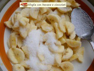 Sfoglia con banane e cioccolati.3