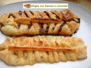 Sfoglia con banane e cioccolati.9