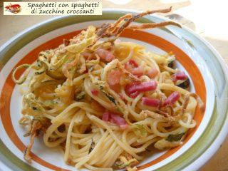 Spaghetti con spaghetti di zucchine croccanti.7