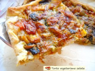 Torta vegetariana salata.1