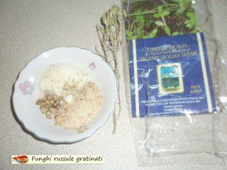 Funghi russule gratinati.2