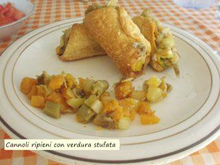 Cannoli ripieni con verdura stufata.6