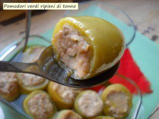 Pomodori verdi ripieni di tonno