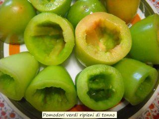 Pomodori verdi ripieni di tonno.2