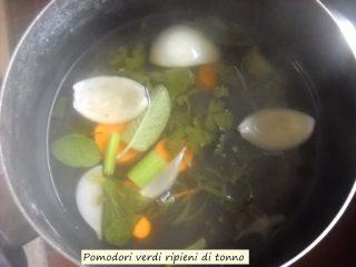 Pomodori verdi ripieni di tonno.3
