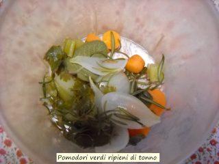 Pomodori verdi ripieni di tonno.4