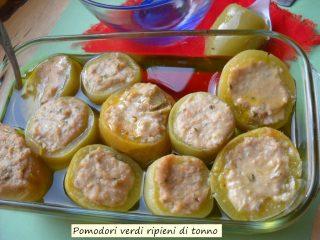 Pomodori verdi ripieni di tonno.6