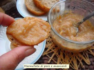 marmellata di pere e anacardi