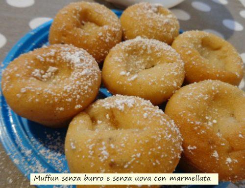 Muffin senza burro e senza uova con marmellata