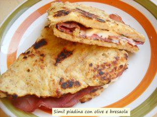 simil piadina con olive e bresaola.9