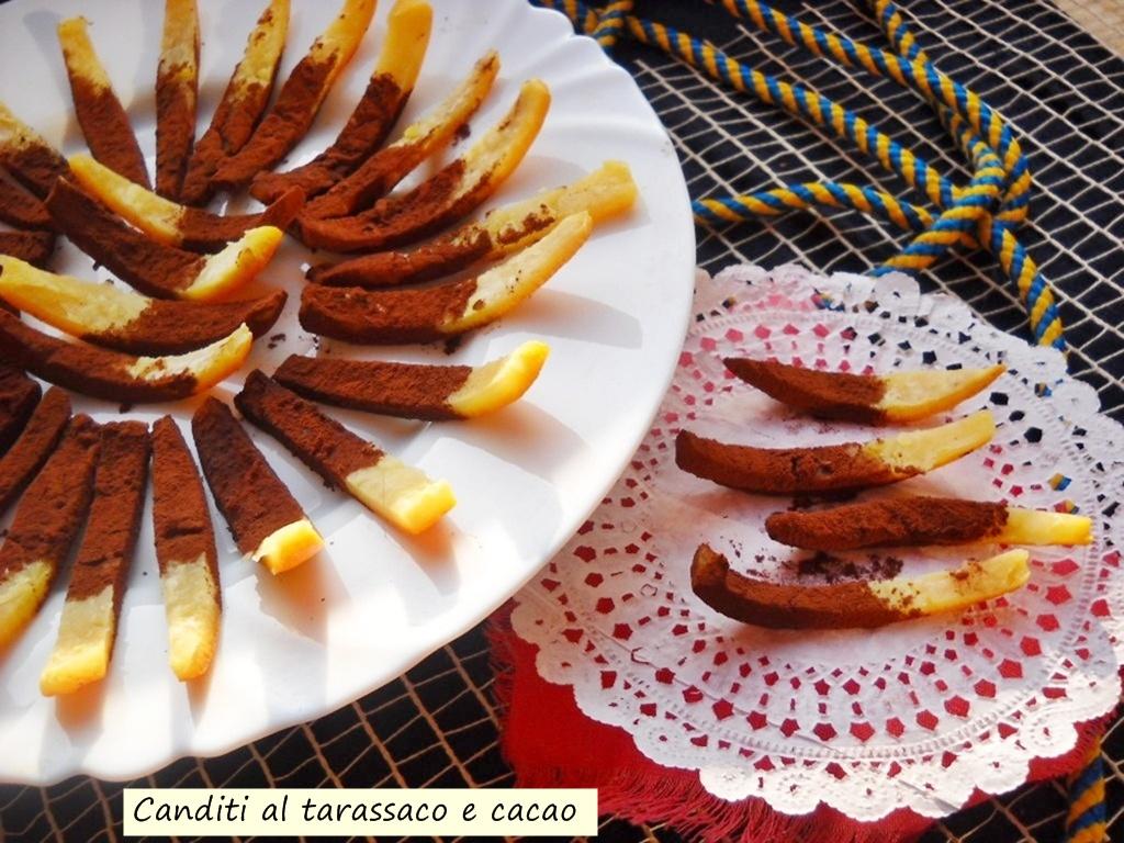 canditi al tarassaco e cacao