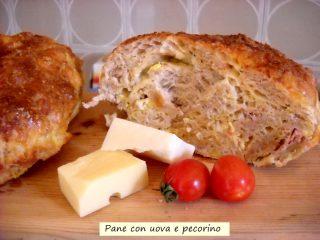 pane con uova e pecorino