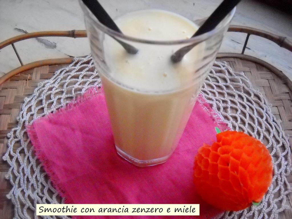 smoothie con arancia zenzero e miele